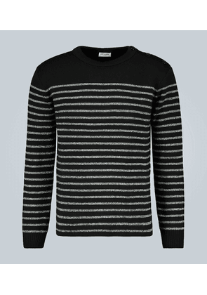 Sailor-knit striped sweater