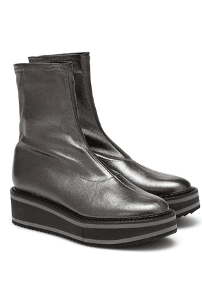 Berta leather ankle boots