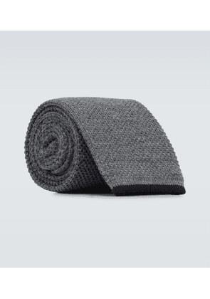 Wool knitted tie