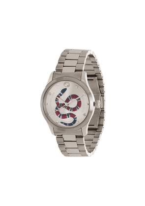 Gucci G-Timeless Kingsnake 38mm watch - SILVER