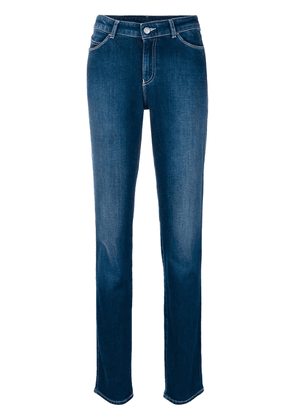 Emporio Armani faded tapered jeans - Blue