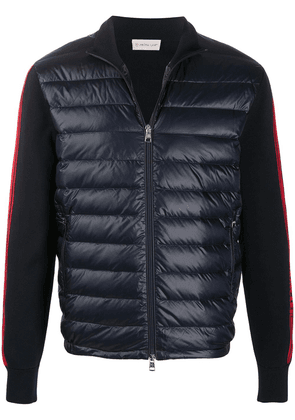 Moncler contrast-sleeve puffer jacket - Blue