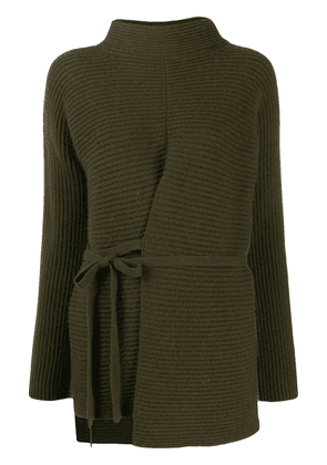 Vince tie front tunic - Green