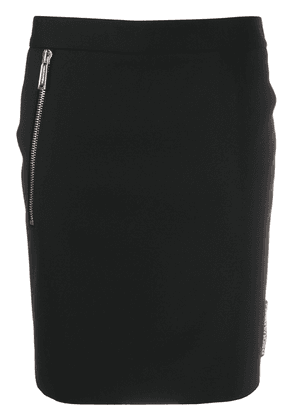 Dsquared2 logo tag fitted skirt - Black