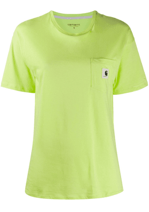 Carhartt WIP logo patch chest pocket T-shirt - Green