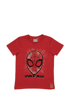 Spider-man Print Cotton Jersey T-shirt
