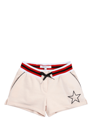 Star Detail Cotton Sweat Shorts