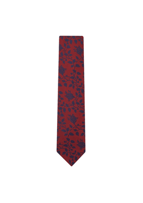 DUCHAMP LONDON Balloon Floral Tie Red