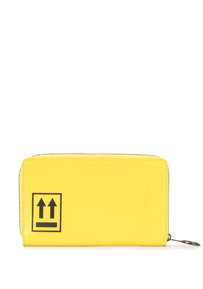 Off-White zip-around wallet - Yellow