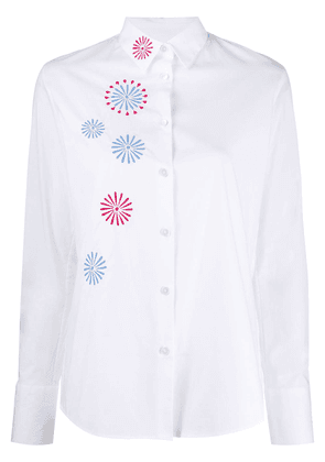 PS Paul Smith embroidered poplin shirt - White
