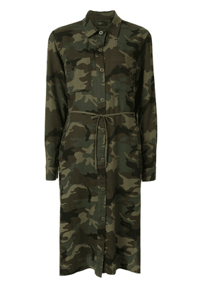 AMIRI camouflage print shirt dress - Green