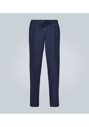 Pleated stretch-cotton pants
