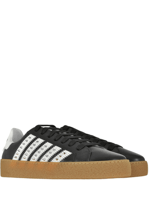 DSquared2 Spike Low Top Trainers Colour: BLACK