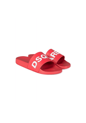 Dsquared2 Logo Sliders Colour: RED