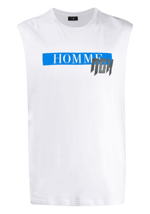 Not Guilty Homme logo print muscle T-shirt - White