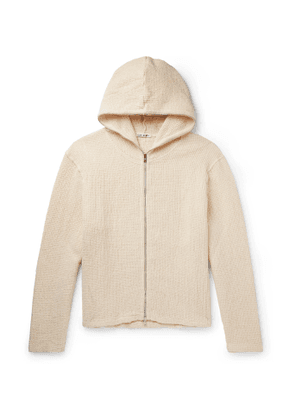 Our Legacy - Waffle-Knit Linen and Cotton-Blend Hoodie - Men - Neutrals