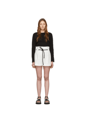 3.1 Phillip Lim White Origami Pleated Shorts
