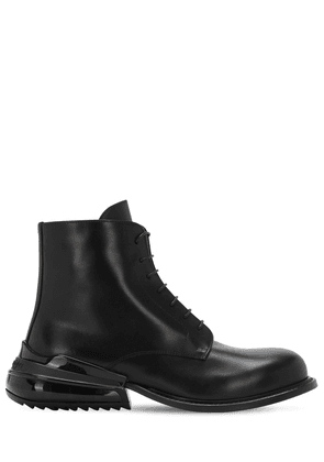 Airbag Heel Leather Lace-up Ankle Boots