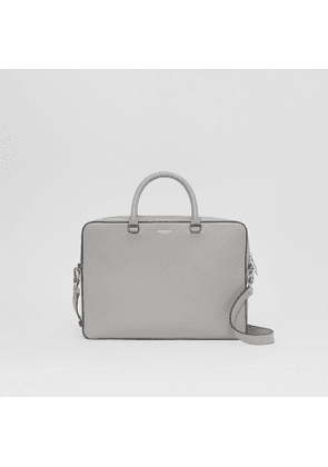 Burberry Grainy Leather Briefcase, Grey
