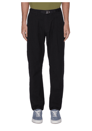 TRIAL' belted cotton nylon blend pants