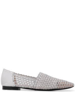 Emporio Armani perforated loafers - SILVER