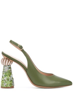 Jacquemus Les chaussures Loiza sequinned pumps - Green