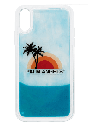 Palm Angels sunset print iPhone XR case - White