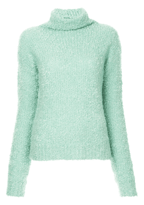 Sies Marjan fuzzy knit turtleneck jumper - Green