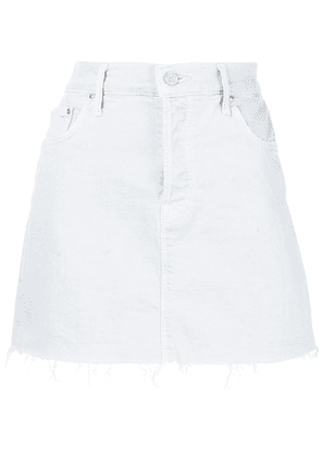 Mother raw hem mini denim skirt - Blue