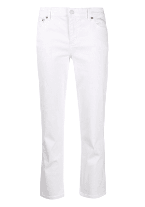 Polo Ralph Lauren high rise cropped jeans - White