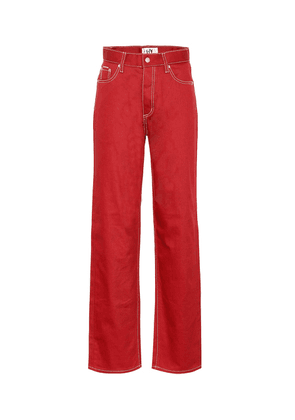 Benz Twill high-rise wide-leg jeans