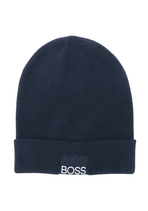 Boss Kids knit beanie - Blue