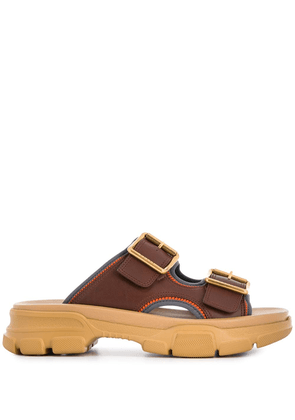 Gucci leather chunky sandals - Brown