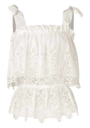 Dolce & Gabbana intaglio embroidered top - White