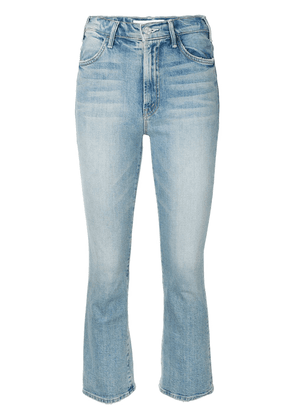 Mother I Confess high-rise cropped kick-flare jeans - Blue