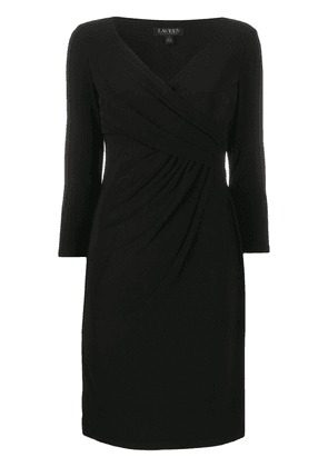 Polo Ralph Lauren fitted wrap-style cocktail dress - Black