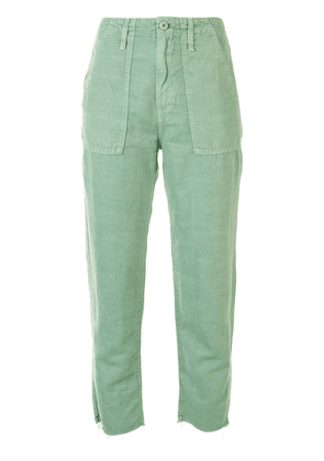 Mother The Shaker cropped trousers - Green