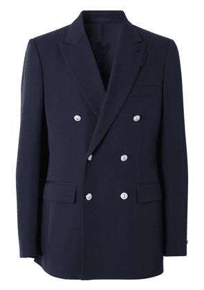 Burberry english fit double-breasted blazer - Blue