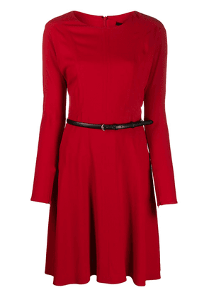 Gucci belted flared dress