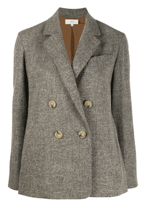 Vince double-breasted long-sleeve blazer - Grey