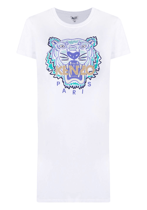 Kenzo embroidered tiger T-shirt dress - White