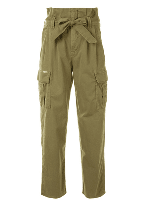 Mother Greaser Paperbag Pleated Cargo trousers - Green