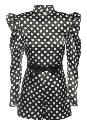 Polka Dots Silk Organza Mini Jumpsuit