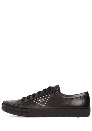 Logo Print Leather Low Sneakers