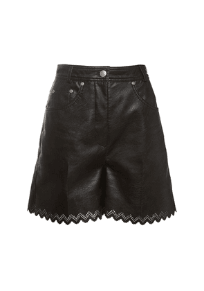 High Waist Faux Leather Shorts