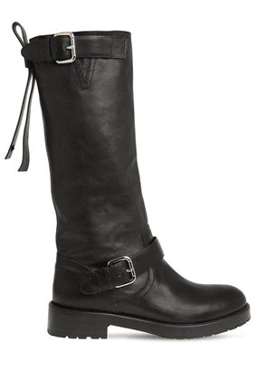 30mm Leather Biker Boots