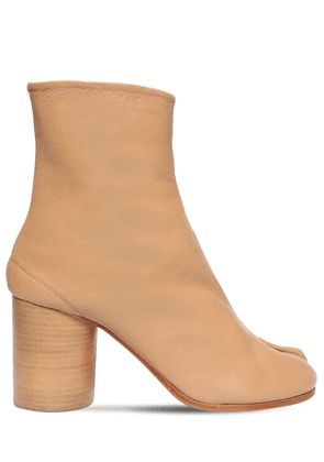 80mm Tabi Vintage Leather Ankle Boots