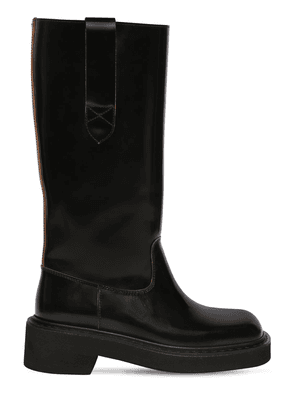 40mm Brushed Leather Boots
