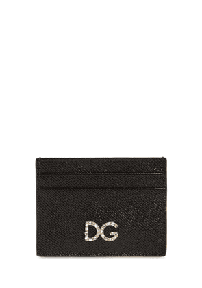 Dauphine Leather Card Holder W/ Logo