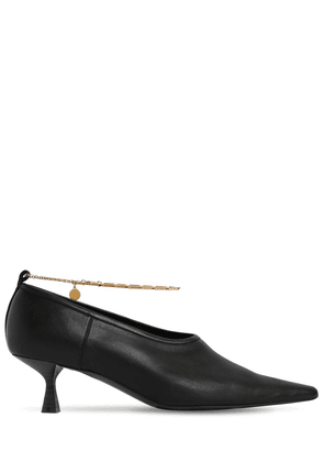 50mm Mid Heel Faux Leather Pumps